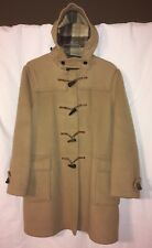 Vintage Gloverall Eddie Bauer Duffle Jacket Coat Men's 42 Tan Wool Horn Buttons
