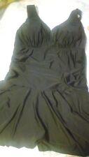Women's Plus Size Black/Floral One PC Swim Suit. Sz 2X US