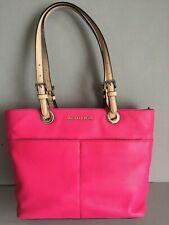 MICHAEL KORS BEDFORD Top Zip Pocket TOTE Pebbled Leather RASPBERRY Pink NWOT