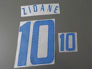 Flocage de ZIDANE pour maillot équipe de France blanc 2004 2006 patch shirt