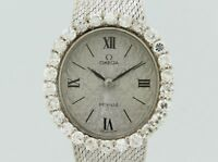 Omega Vintage Diamonds Quartz White Gold Lady
