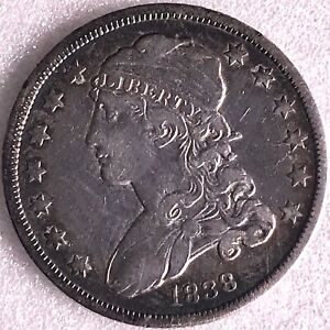 1838 Capped Bust Silver Quarter 25C S667