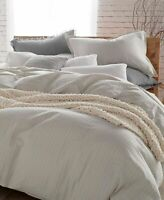 DNKY Pure Comfy White Stripe Cotton FULL / QUEEN Duvet Cover