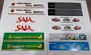 Winross Truck Side Panels Spartan, SAIA, SNFCC, Teknion, Minquas, Speed Racer