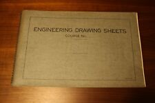 1937 Engineering Drawing Sheets Series B MacGraw-Hill Thomas E. French Drafting