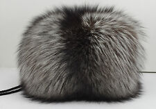 Real Silver Fox Fur Handmuff New (made in usa.) Hand muff/ down satin lining