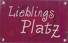 Schild Kunststoff Lieblingsplatz Platz Wetterbeständig Garten Stuhl Stelle Raum
