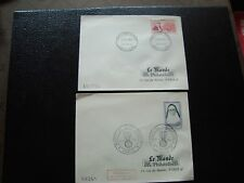 FRANCE - 2 enveloppes 1er jour 1961 (mere elisabeth/coulomb) (cy96) french