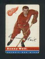 1954-55 Topps #9 Benny Woit VG/VGEX Red Wings 108278