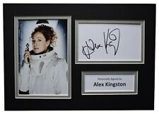 Alex Kingston Signed Autograph A4 photo display Doctor Who TV AFTAL COA