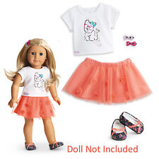 """American Girl MY AG COCONUT CUTIE OUTFIT for 18"""" Dolls Clothes Skirt Puppy NEW"""