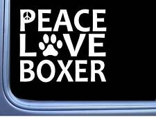 "Boxer Peace Love L585 Dog Sticker 6"" decal"