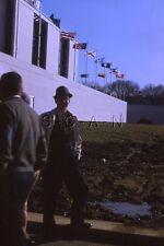 Org Vintage 1964 Negative / 35mm Slide- Navy Maryland Football- Stadium- Flags