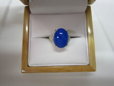 GORGEOUS ESTATE 14 KT GOLD 3.88 CTW. BLUE OPAL AND DIAMOND RING !!!!!!!!!