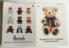 Limited Ed Set of 10 Dated Harrods 20cm Bears 1986-1995 Rare Collectable NO BOX
