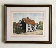 Patrick Cabell 'The Plough & Sail Pub' Original Watercolour Painting Signed