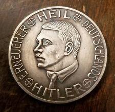 Adolf Hitler Third Reich Nazi 1 Mark coin Exunomia WW2 WWII German Germany
