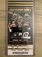 2020 New Orleans Saints vs Minnesota Vikings NFL NFC Playoff Ticket Stub 1/5