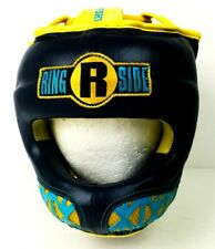 Ringside Boxing Youth Face Saver MMA Sparring Headgear - Blue / Yellow EUC