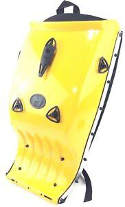 NEW Marco Adjustable Hardshell Motorcycle Bike Backpack Yellow Size in Pictures