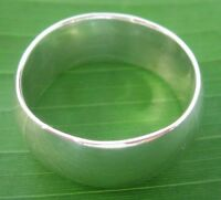 REAL 925 sterling silver 9mm SOLID CURVED WEDDING BAND ring size 6.5 -16 -UNISEX