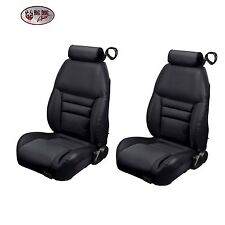 Black Front Bucket Seat Upholstery, Original Style for 1997-98 Mustang GT, Cobra