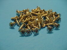 "GM 50 #8x7/16"" Chrome Self Tapping Wheel Well Moulding Trim Screws Phillips NOS"