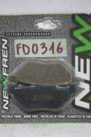 Pastiglie freno posteriore NEWFREN Rear brake pads Yamaha Tmax 500cc 01 03