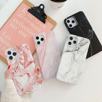 For iPhone 12 mini 11 Pro Max XS XR X 8 7 Plus Marble Silicone Soft Case Cover