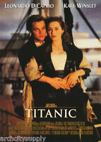 POSTER :MOVIE REPRO: TITANIC -  LEO WITH ARMS AROUND KATE - FREE SHIPPING LW16 O