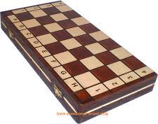 ACE Schachspiel Schach Schachbrett Schachfiguren Holz Chess Scacchi NEU 41X41 cm