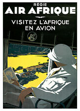 "Air Afrique c.1936 - 24""x36""  Vintage Travel Poster on Canvas"