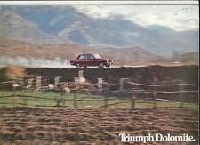 TRIUMPH DOLOMITE (LE MANS, MONZA, 'THE GAP') + MORE SALE BROCHURE SEPTEMBER 1972