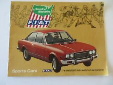 VTG Ad 1970s Fiat 124 Sport Spider 128 SL Sport Coupe Showroom Brochure #9430