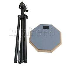 More details for practice pad & snare stand bundle drum pad sided for 8 inch snare drum grey