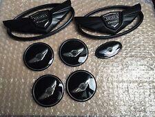 7pcs New 3D black Genesis Wing Badge Emblem Sticker For Hyundai Genesis Coupe