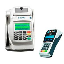 First Data FD200 IP/DIAL Dual Comm Terminal W/CHECK READER FD35 EMV/NFC Pin Pad