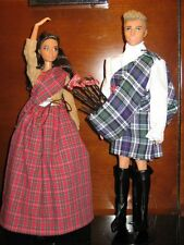 Barbie Grant A Wish Scottish Highlander Friday Night Centerpiece 2 doll Set