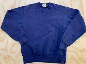 VTG LL BEAN RUSSELL ATHLETIC MEN SMALL BLUE REVERSE WEAVE SWEATSHIRT MADE IN USA