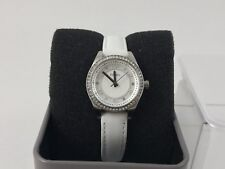 Fossil Carissa White Leather Strap Ladies Watch BQ1082