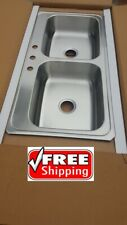 "Elkay Sink stainless 43""x22"" Kitchen Faucet Top mount Back yard patio supply BBQ"