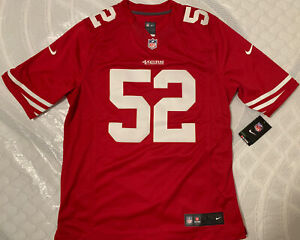 NIKE PATRICK WILLIS 49ERS STITCHED 2013 ON FIELD LIMITED JERSEY MEN Size L RED