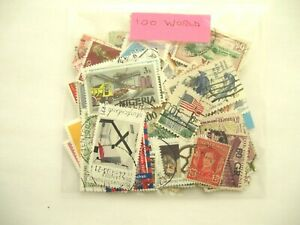PACK OF 100  ALL DIFFERENT  WORLD STAMPS , OFF PAPER, TOP QUALITY, POST PAID