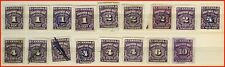 Canada Stamp Used Postage Due - #J15-J20 (no J18) (1935) (17 stamps)(511)