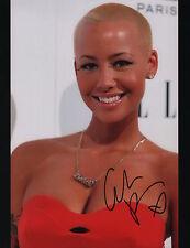 Amber Rose signed 11x14 photo