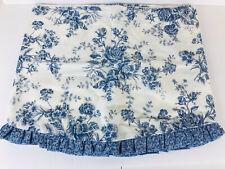 "JC Penney Salisbury Blue Floral Valance 82"" w 3"" Rod Pocket Lined"