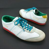 Le Coq Sportif Retro Sneakers Trainers White Blue Green Red Gold - Men's 12 UK11