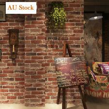 9.5M Rustic 3D Brick Stone Textured Vintage Vinyl Wallpaper Roll Decal AU Stock