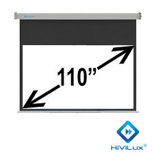 "HiViLux Rollo-leinwand 110"" 16:9 244x137cm 3D/2D/Full HD/Gain=1,2/Vorlauf 50CM"