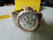 Invicta Specialty 45mm Swiss Quartz 18K Ion-Plated Rose Gold Accents SS Watch!!!